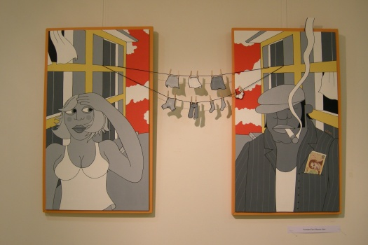 """Money, Money"" - ©LEXA - Exposition Galerie Bensimon - juin 2008"