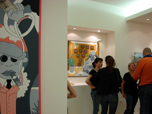 "Vernissage ""Money, Money"" - ©LEXA - Exposition Galerie Bensimon - juin 2008"